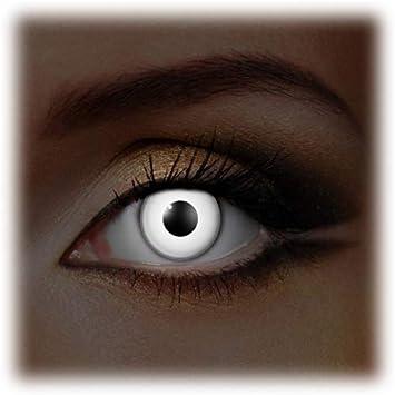 White UV Lentillas de color White UV Eyes4You®, sin dioptrías pack de 2 unidades - cómodas y perfectas para Halloween, Carnaval, sin corregir: Amazon.es: Salud y cuidado personal