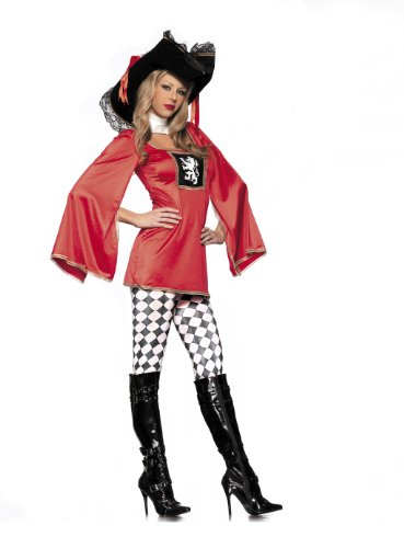 [Be Wicked Costumes Women's Royal Guard Costume, Red/Black, Small/Medium] (Royal Guards Costume)