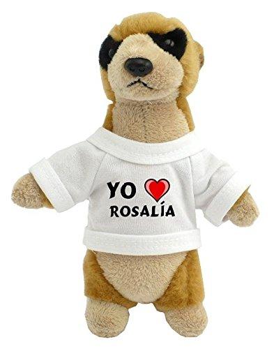 Suricata personalizada de peluche (juguete) con Amo Rosalía en la ...