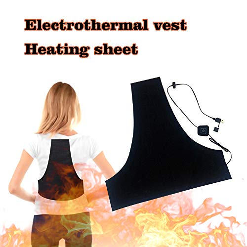 Price comparison product image Heated Thermal Vest USB Electric Heating Cloth Pad Lightweight Waterproof DIY Warm Vest Clothes for Winter Wearing 1PC (Black)