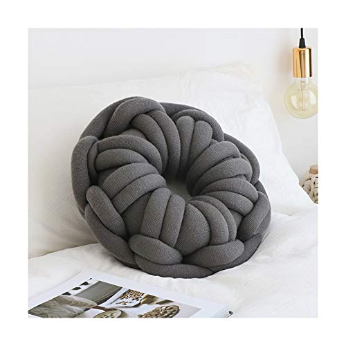 Warooms Handmade Knotted Pillow Ring Knot Pillows Sofa Back Cushion Bedroom Office Nap Pillow Car Cushions Donut Modeling Child Toys Home Decor ()