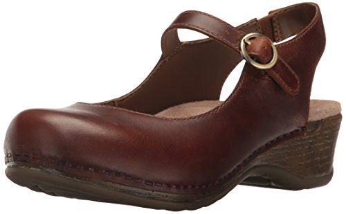 Dansko Women's Maureen Mary Jane Clog Brown Pull Up