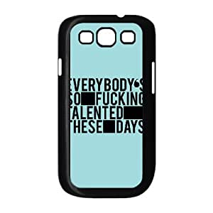 Dustin Funny Quote Samsung Galaxy S3 Cases Talented, [Black]