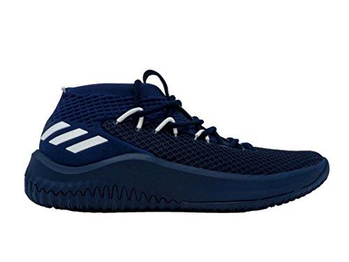 Adidas Dame 4 Hommes De Chaussures De Basket-ball Collégial Nba Marine Blanc