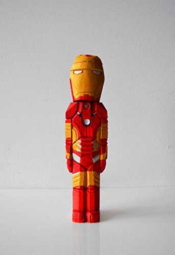 Handmade Wooden FLASHLIGHT. Comics Superhero Design. Eco - Friendly Product. Original and Unique Home Decoration. Best Gift for Boys and Women, Men and Women.