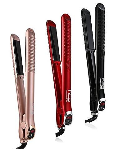 HTG 2 in1 Hair Straightening Iron and Hair curling iron Hair Straightener + hair Curling Iron Electric Multifunction hair Straightening styler tool +LCD display - Iron Multifunction Tool
