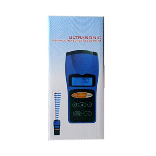 (Handheld LCD ultrasonic Distance Meter Measurer 0.91-30m Meter Digital ruler CP3008)