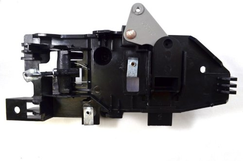Black Housing with Black Lever PT Auto Warehouse GM-2901A-FL Driver Side Front Inside Interior Inner Door Handle