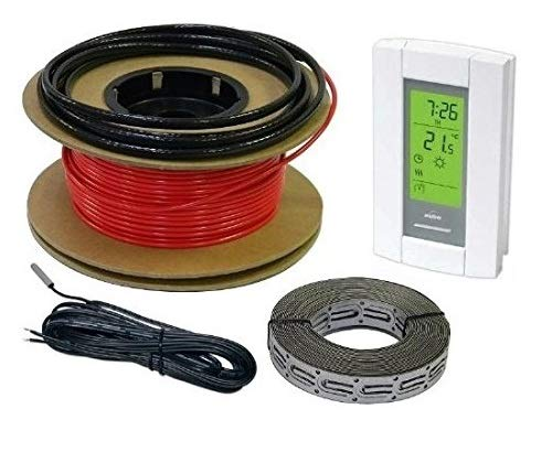 HeatTech 20-40 sqft Electric Radiant In-Floor Heating Cable System, 120V by HeatTech
