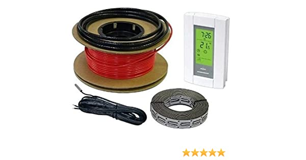 Floor Heat Electric Tile Radiant Warm Heating System 20 sqft 120V cable only