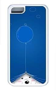 iPhone 5c case, Cute Naughty White Bear iPhone 5c Cover, iPhone 5c Cases, Soft Whtie iPhone 5c Covers
