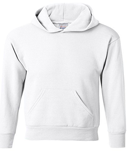 Hanes Comfortblend Pullover Fleece (Hanes Youth Comfortblend Ecosmart Hooded Pullover Fleece, Wht, Large)