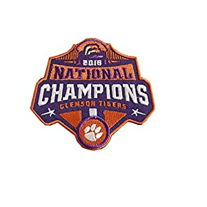 Hipatch 2018 College National Champions Clemson Tigers Football Patch Embroidered Patch Iron on Logo Vest Jacket Cap Hoodie Backpack Patch Iron On/sew on Patch