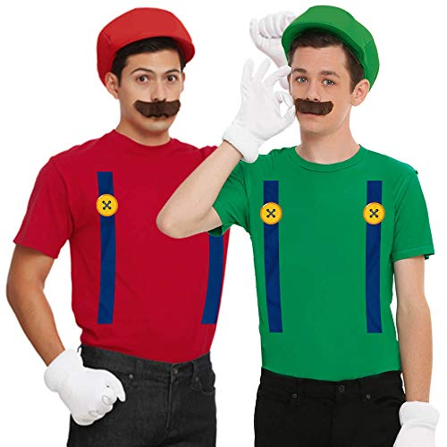 Super Mushroom Mario Costume Matching Couple Set Outfit Customized Handmade T-Shirt Hoodie/Long Sleeve/Tank Top/Sweatshirt