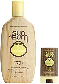 Sun Bum Moisturizing Sunscreen Lotion SPF 70 and Face Stick SPF 30
