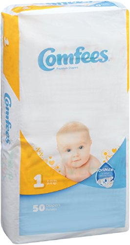 ATTENDS Baby Diaper Comfees Tab Closure Size 1 Disposable