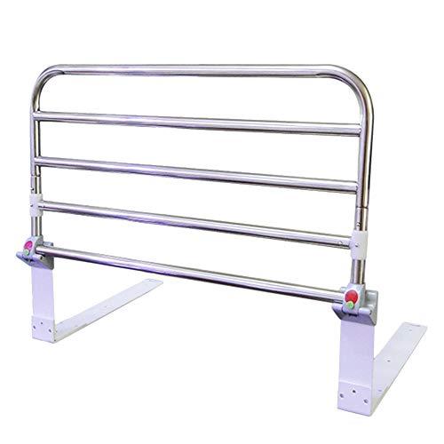 Foldable Elderly Bed Rail Guard Safety Side, Portable Hospital Metal Grip Bumper Bar, Adults Assist Handle Handicap Bed Railing (Size : 60cm)