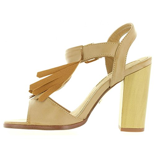 BEIGE tacón MARIA BRUSH de MARE Mujer Zapatos 66104 de 4v8qqx5g