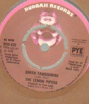 LEMON PIPERS - GREEN TAMBOURINE - 7 inch vinyl / - Tambourine Inch 7