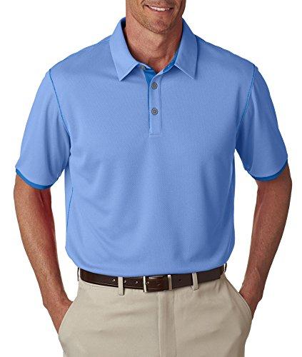 adidas Golf Mens Climacool Mesh Color Hit Polo (A221) -LKY Blue/B -3XL