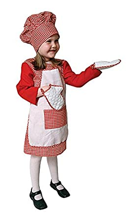 Dress Up America Conjunto de Disfraces de Guinga niña roja: Amazon ...