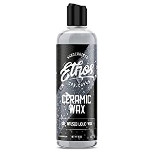 Ceramic Wax Top Coat Paint Protectant and Sealer, Automotive Sealant Infused With Nano Coating Technology! As Easy to Apply as Carnauba Waxes! Mirror Like Wet Finish (16 Oz) Ethos Handcrafted Car Care