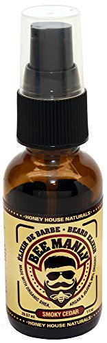(Honey House Naturals Bee Manly Beard Elixir - Masculine Smoky Cedar Scent - Presented in 1 OZ Glass Spray Bottle - All Natural Ultra Moisturizing Beard Elixir Infused with Essential Oils)