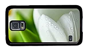 Hipster Samsung Galaxy S5 Case free cover white wet tulip PC Black for Samsung S5 by icecream design