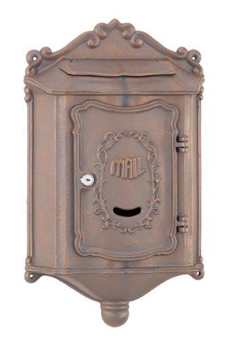 Amco Mailboxes WM-209BCT Colonial Aluminum Wallmount Mailbox, Black