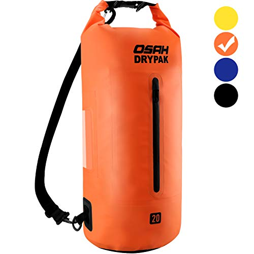 20l Water - OSAH DRYPAK Floating Waterproof Dry Bag Backpack 5L 10L 15L 20L 30L Long Adjustable Shoulder Strap for Boating Kayaking Camping Travel Hiking Swimming Surfing Rafting Beach Fishing Water Sports