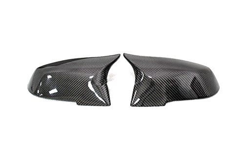 - Eppar New Carbon Fiber Mirror Cover Replacement One Set for BMW 5 Series Sedan F10 F18 2014-2016 520i 523i 528i 530i 535i 550i (M3 Style)