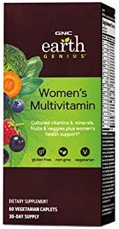 GNC Earth Genius Womens Multivitamin, 60 Vegetarian Caplets, Supports Womens Nutrition