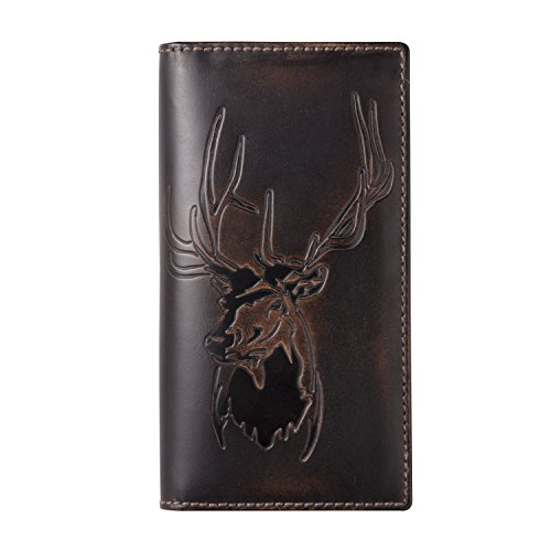 Co Wallet Premium Leather Hand Burnished Wallet Hunter product image