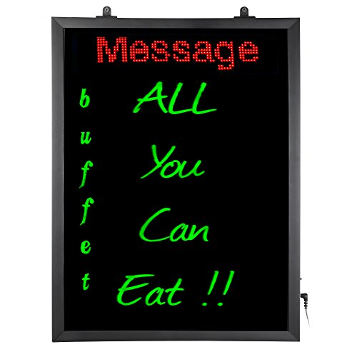 Artistic LED Dry-Erase Writing Board - Flashing Functions and multi-color Lighting , WIFI Programmable Scrolling Message, Black/Red/Blue/green (34105) by Artistic
