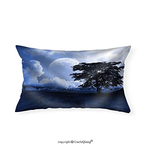 VROSELV Custom pillowcasesDesert Landscape - Fabric Home Decor(16''x20'') by VROSELV