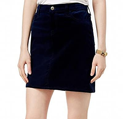 Tommy Hilfiger Navy Women's Straight Corduroy Skirt