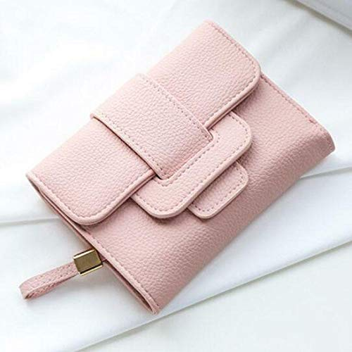 New Soft Leather Women Wallet Tri-Folds Clutch For Girls Coin Purse Card Holders (Color - Pink)