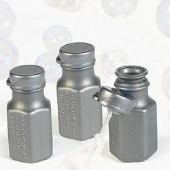 48 Silver Mini Hexagon Bubble Bottles]()