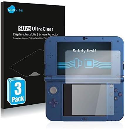 savvies Protector Pantalla Compatible con Nintendo New 3DS XL (6 Unidades) Pelicula Ultra Transparente: Amazon.es: Videojuegos