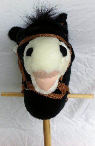 Black Hobby Horse on Stick by DDI inc