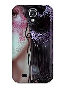 New Arrival Case Specially Design For Galaxy S4 (girl With Face Tattoo Fantasy Abstract Fantasy)