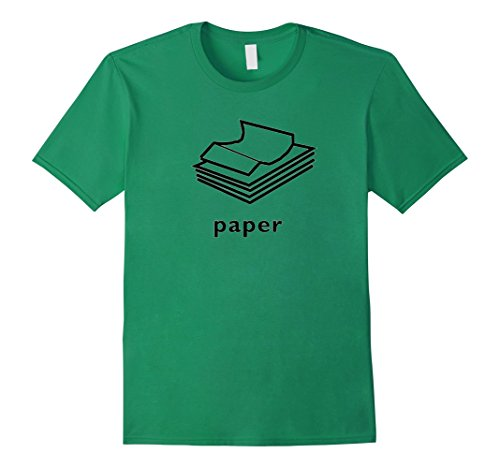 Easy Group Costume Ideas For Halloween - Mens Clever Halloween Costume Idea - Rock Paper Scissors Funny T Large Kelly Green