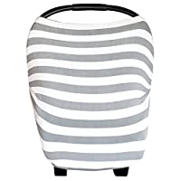 """Baby Car Seat Cover Canopy and Nursing Cover Multi-Use Stretchy 5 in 1 Gift """"..."""