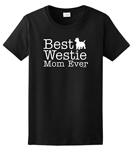 (West Highland Terrier Gifts West Highland Terrier Gifts Best Westie Mom Ever Ladies T-Shirt Medium Black)