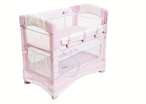 Arm's Reach Concepts Mini Ezee 3-in-1 Bedside Bassinet - Coterie/Pink by Arm's Reach