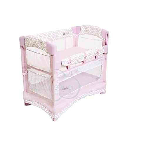 Image of Baby Arm's Reach Concepts Mini Ezee 3-in-1 Bedside Bassinet - Coterie/Pink