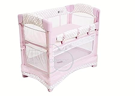 Arm's Reach Concepts Mini Ezee 3-in-1 Bedside Bassinet - Coterie/Pink Arm' s Reach Concepts 5441-CO