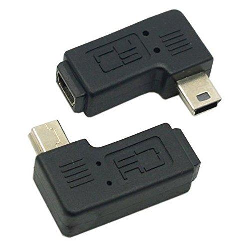 UXOXAS Female Mini USB to Male Left and Right Turning Mini USB Adapter