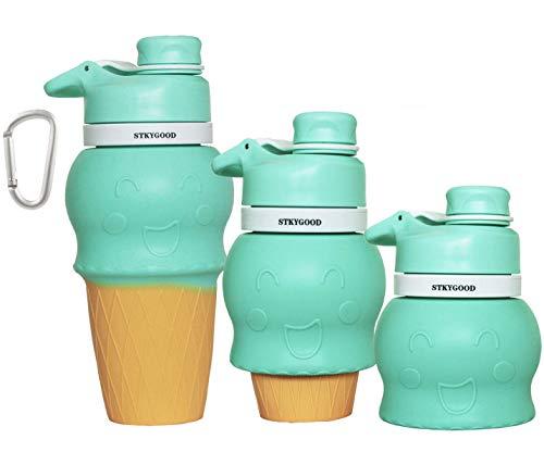 - STKYGOOD Kids Collapsible Water Bottle BPA Free Kids Bottle, Silicone FDA Approved Food-Grade Portable Leak Proof Travel Bottle,17oz
