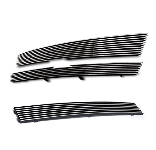 ZMAUTOPARTS Chevy Trailblazer Front Upper+Bumper Grille Grill Combo EXt LS LT ()